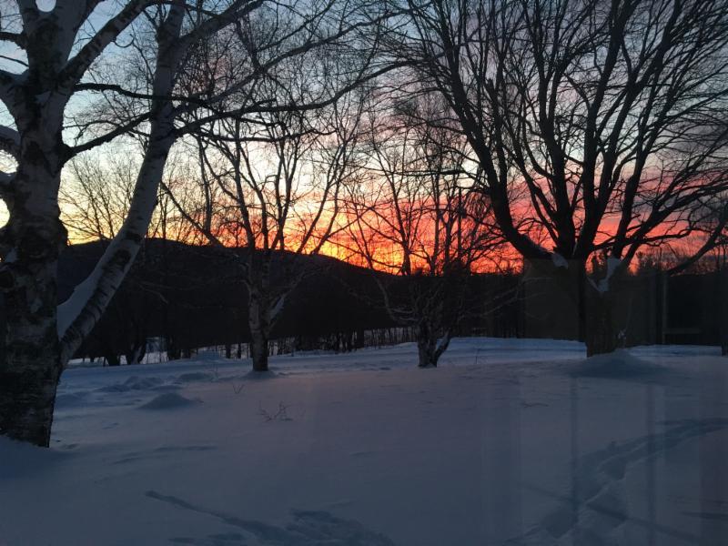 Sunrise Over Weston_s Markham Mountain
