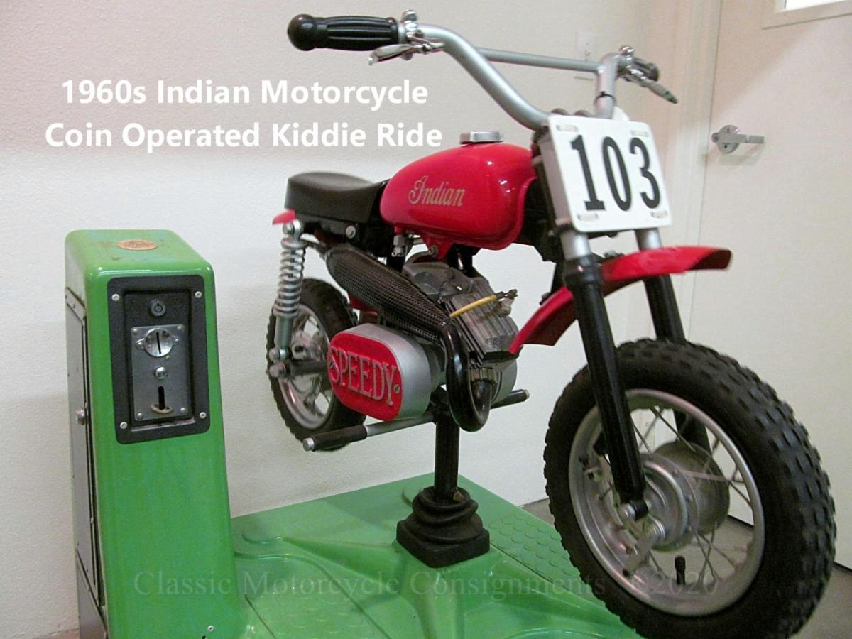 1960s Indian Motorcycle Kiddie Ride Coin Operated