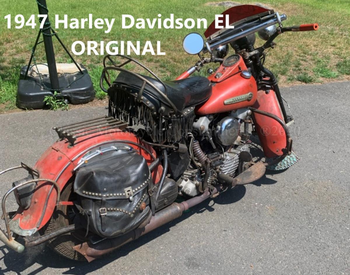1947 Harley Davidson EL Knucklehead -- ORIGINAL
