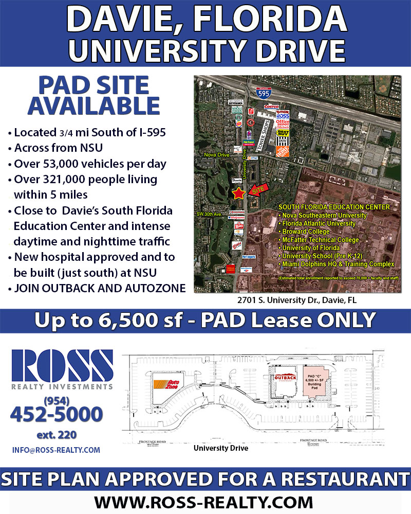 restaurant pad site for lease across from nsu in davie fl constant contact