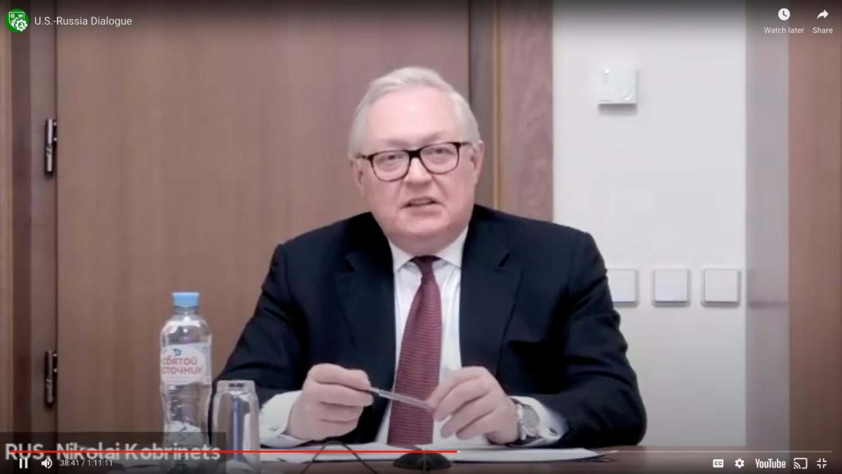 Nikolai Kobrinets US Russia dialogue