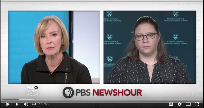 Melissa Hanham with Judy Woodruff on PBS NewsHour