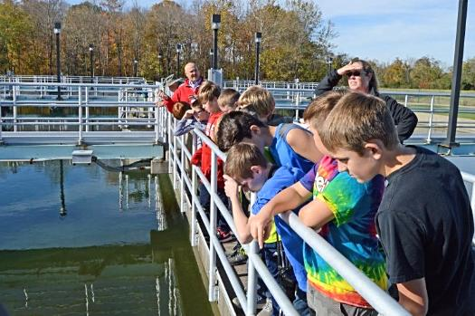 Lego League Team from Meadowview Elementary to the Bob McEwen Water Treatment Plant 10.24.17 for a tour, as they learn all about Hydrodamics.