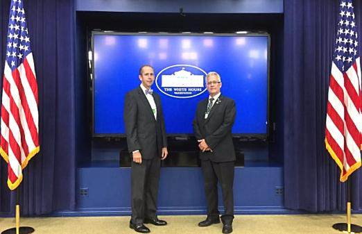 Commissioners Uible and Painter visit White House on Aug. 29, 2017, along with other Ohio county commissioners.