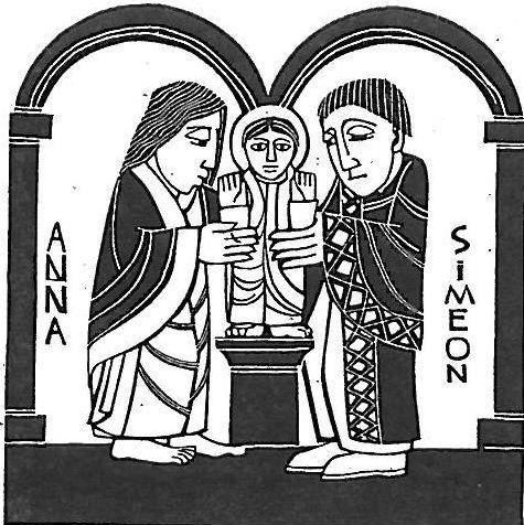 Simeon and Anna woodblock