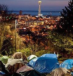 Tent City 3 & Space Needle