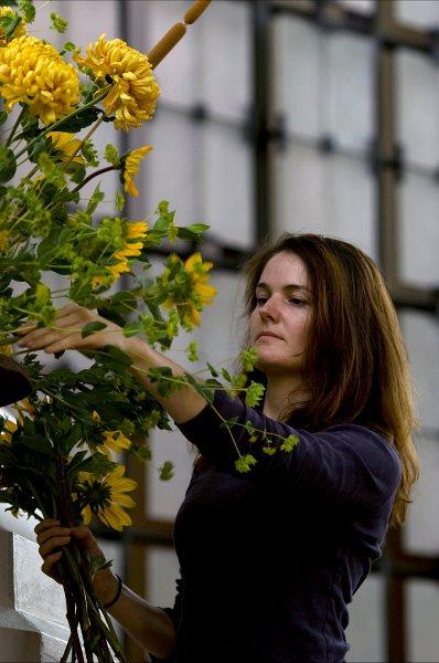 Arranging flowers (Carolyn Shaw)