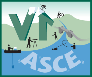 Logo with Skiers