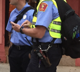 Officer texting