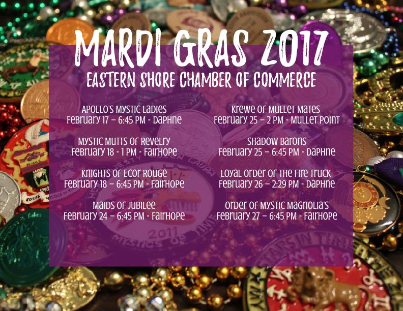 Mardi Gras 2017 Schedule