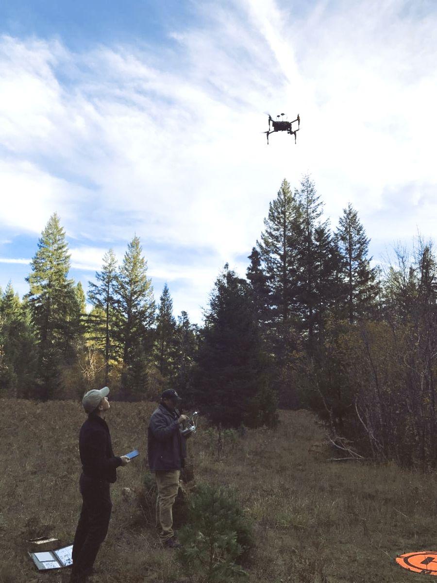 UCB staff test-flying drone