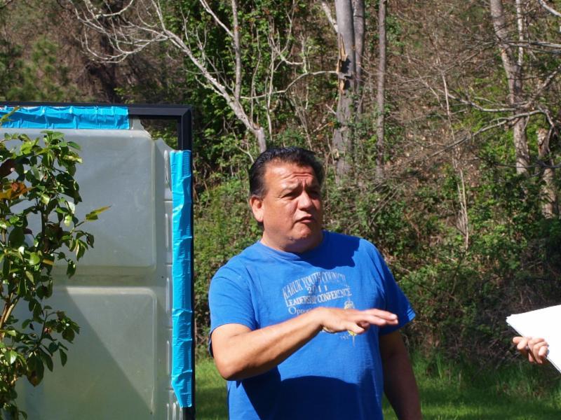 Grant Gilkison explains Orleans afterschool program.