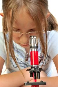Microscope girl
