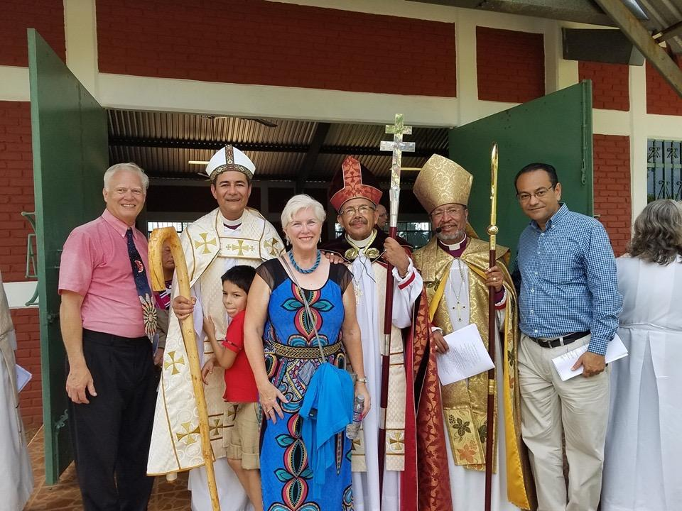 The Jackman's with the Bishops in Southeast Mexico.