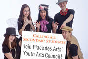 Join Place des Arts' Youth Arts Council