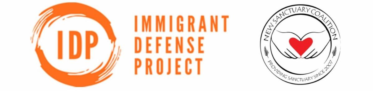 Immigration Defense Project and New Sanctuary Coalition logos