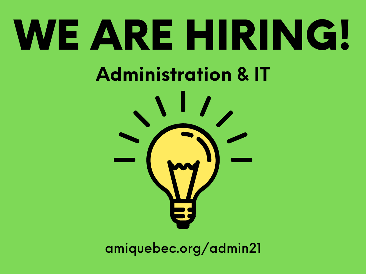 We are hiring Admin