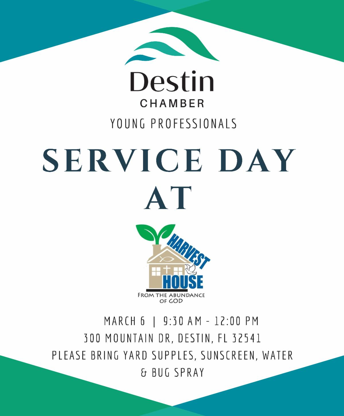 Young Professionals of Destin March 2020 Service Project