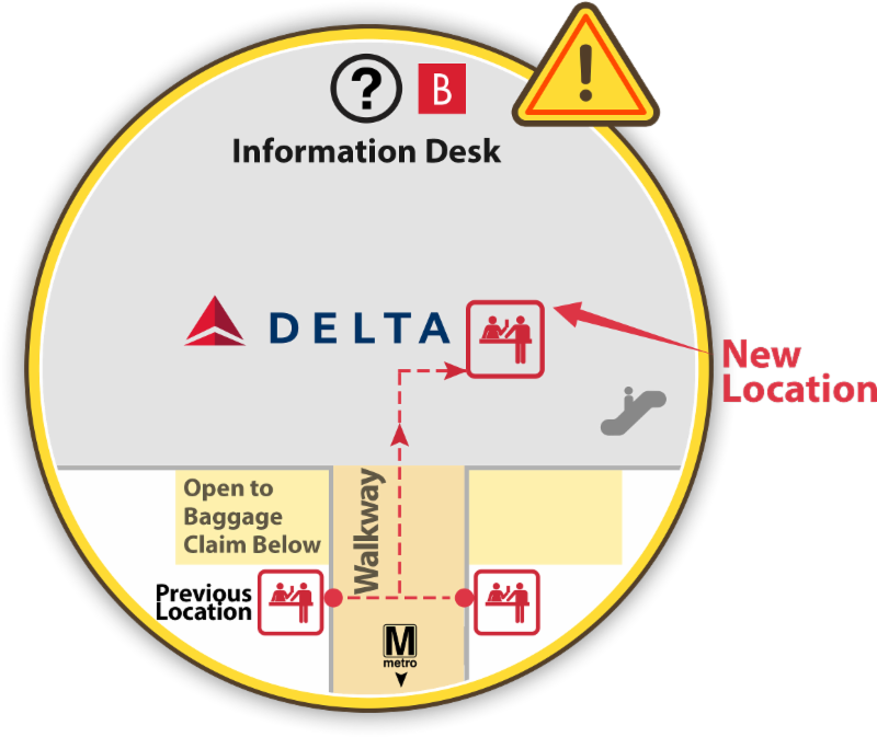 Delta kiosk relocation