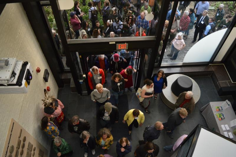 The public entered the Tompkins Center following the ribbon cutting on May 10.