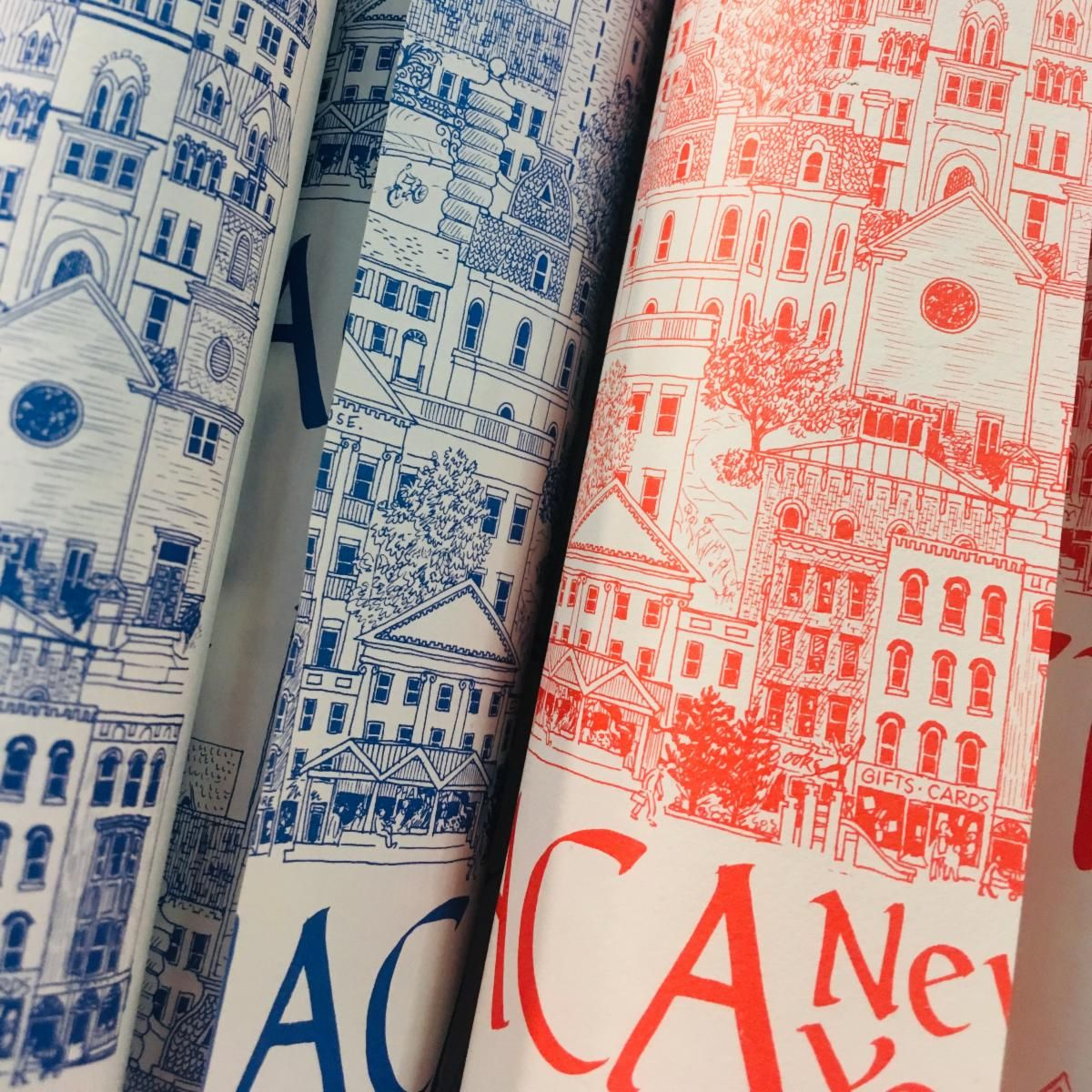 Ithaca wrapping paper