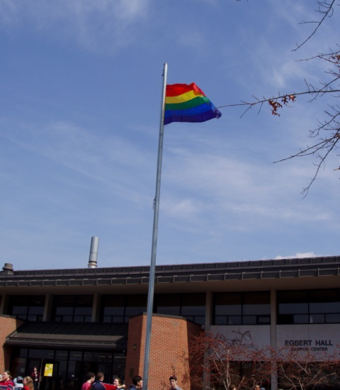 LGBTQ Pride Flag at Ithaca College