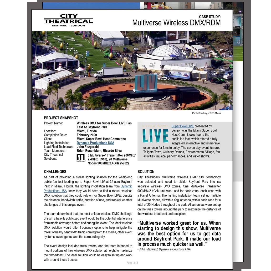 Multiverse at Super Bowl LIVE Case Study