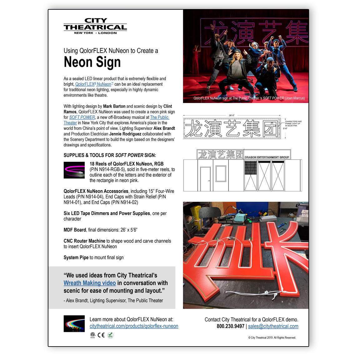 How to Create a Neon Sign Using QolorFLEX NuNeon