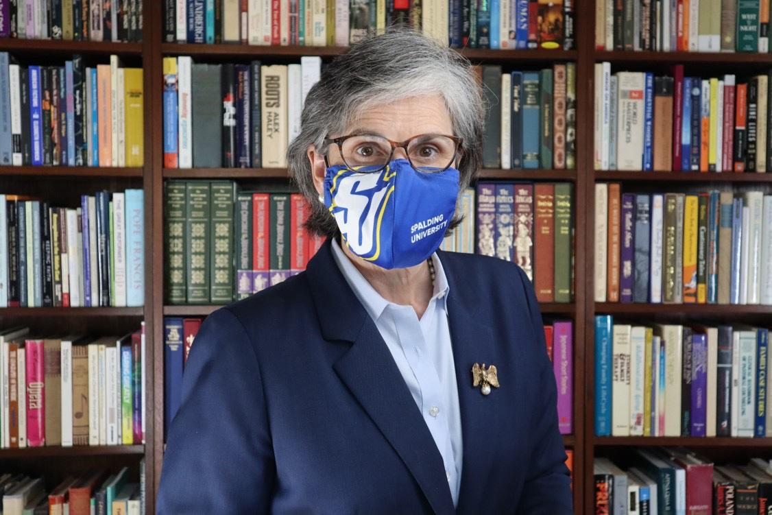 Tori McClure with Mask