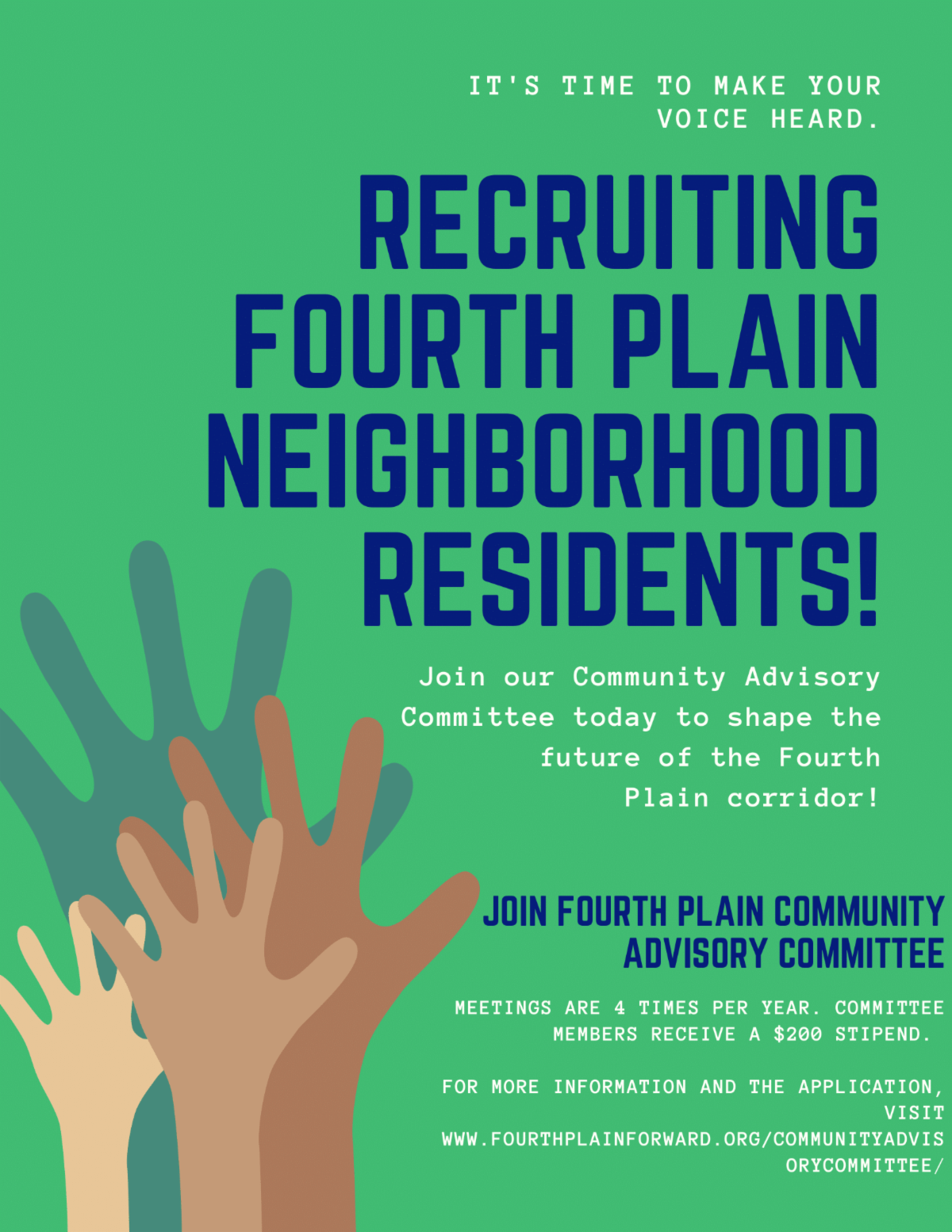 Recruiting for Fourth Plain Advisory Board