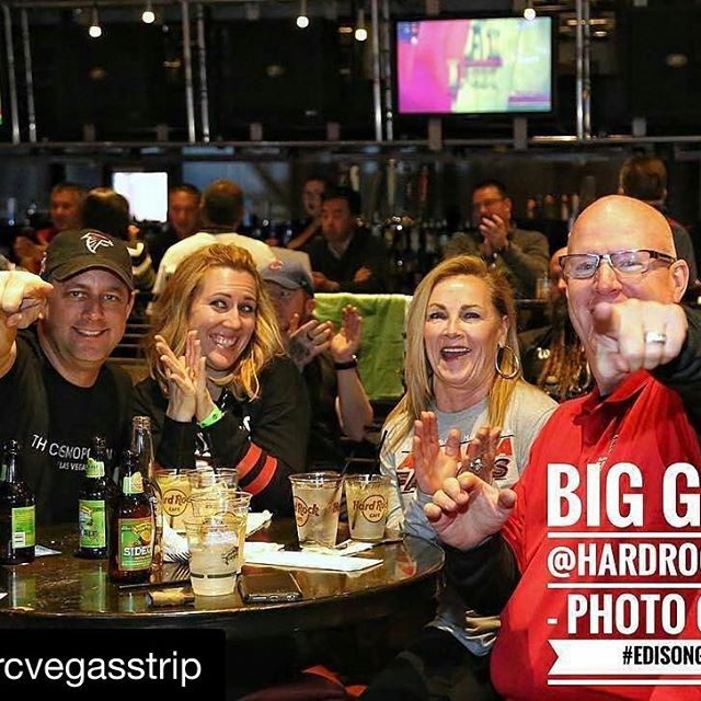 Great party at Hard Rock Cafe on The Strip #superbowl #lasvegas #sincityvip