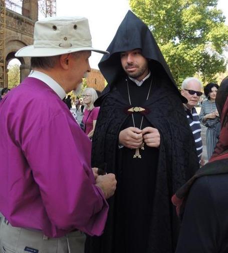 Bishop Bill in Etchmiadzin