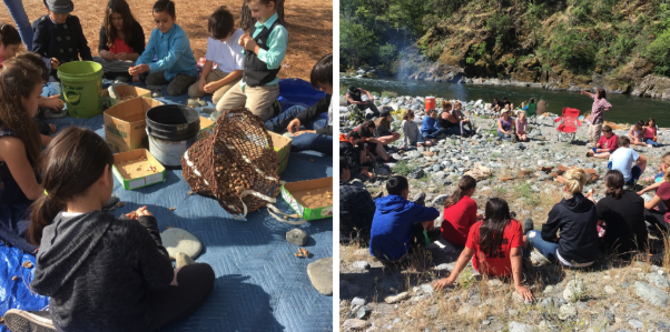 Students gather to learn about traditional foodways.