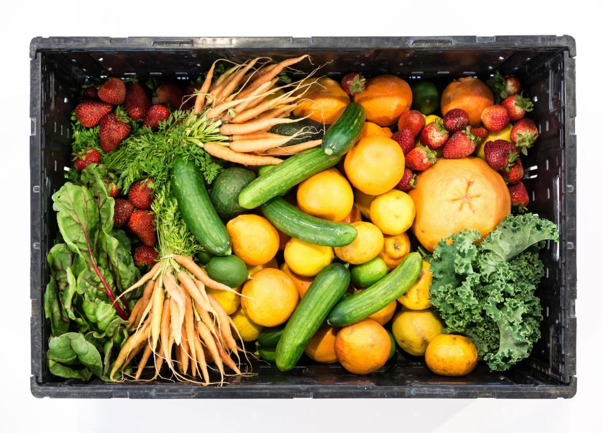Crate of fresh produce