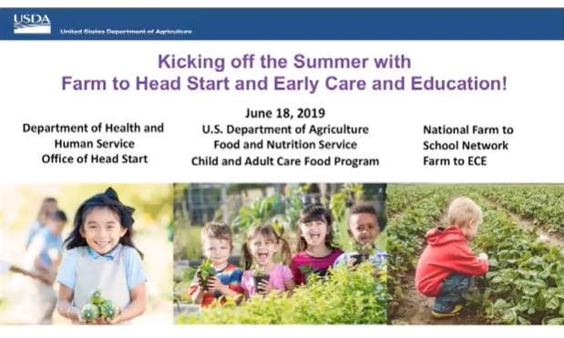 Kicking off the Summer with Farm to Head Start and Early Care and Education