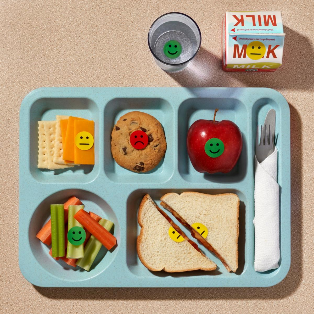 Photo of school cafeteria tray