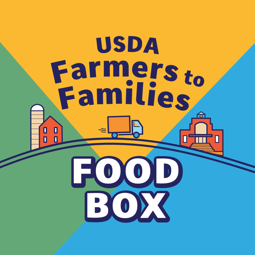 USDA Farmers to Families Food Box Sticker