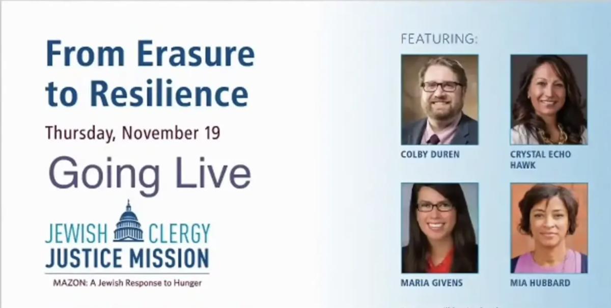 From Erasure to Resilience webinar slide
