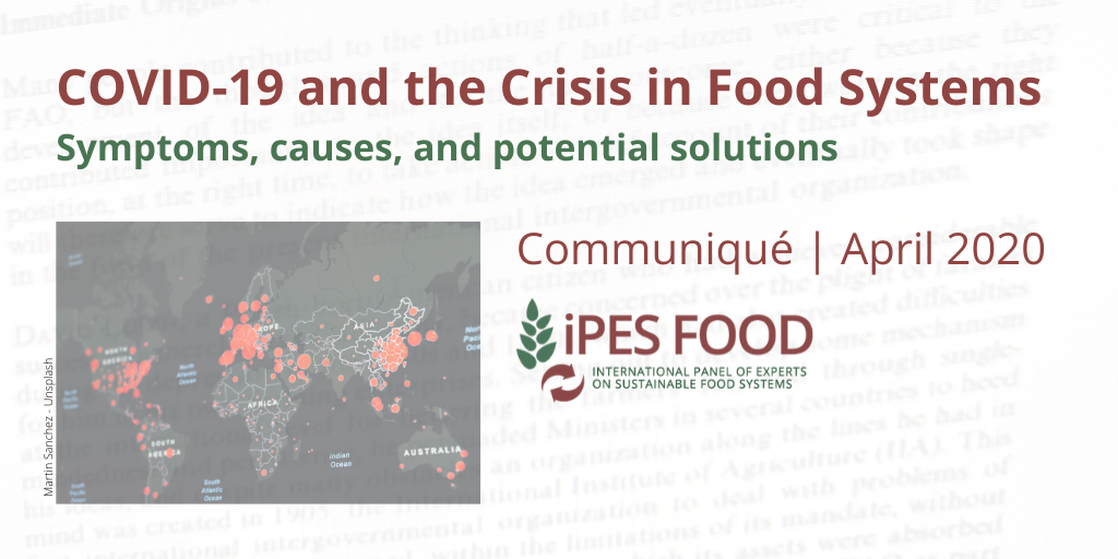 COVID-19 and the Crisis in Food Systems