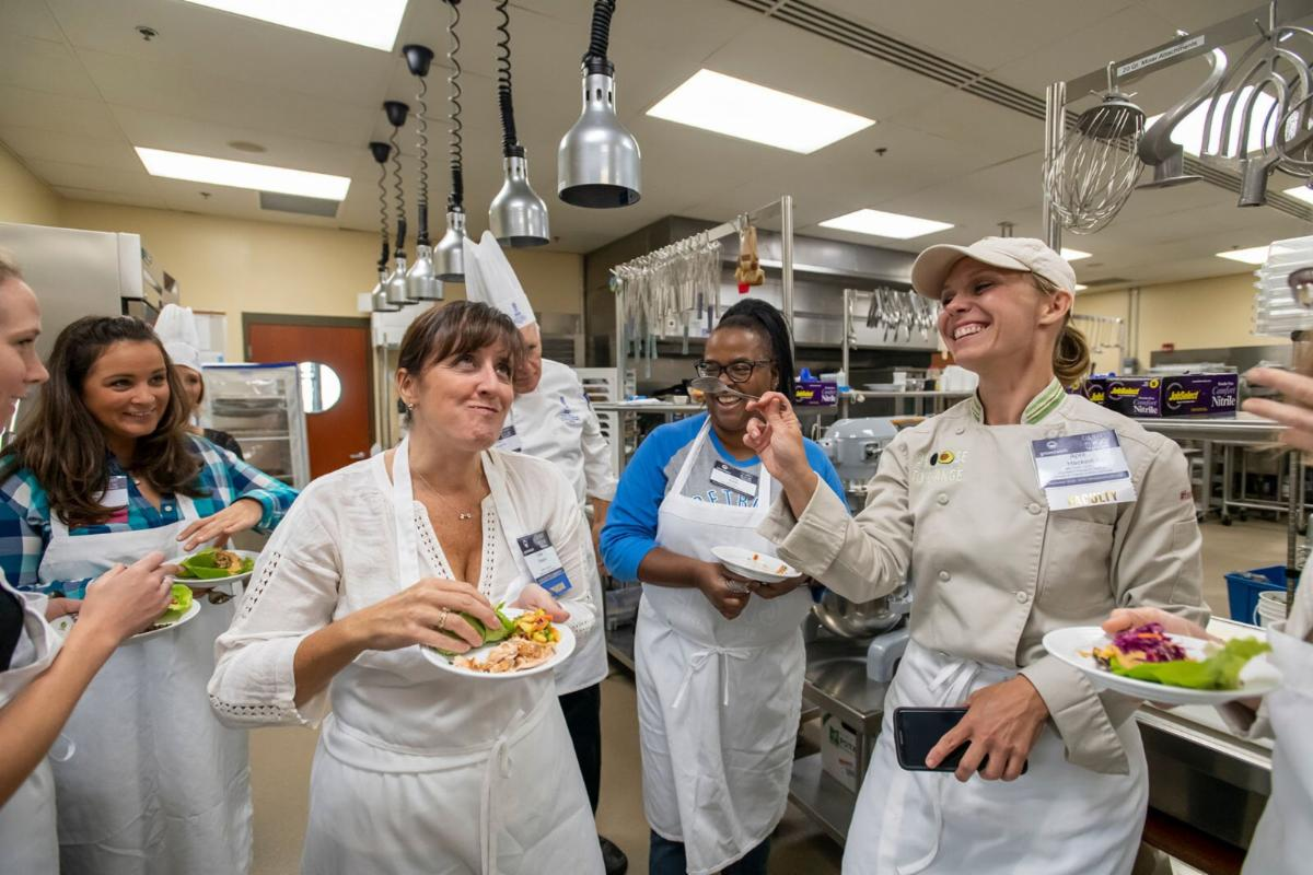 Partipants at a culinary medicine training offered by Groundwork Center.