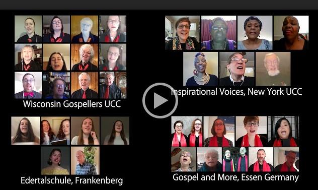 Screenshot of Gospellers choir video