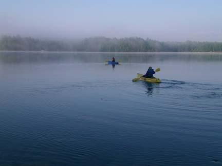 kayak on a lake image