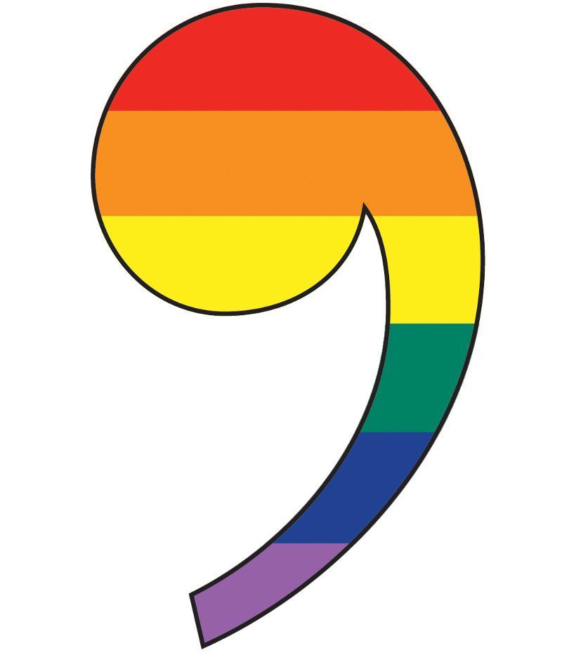 rainbow comma image