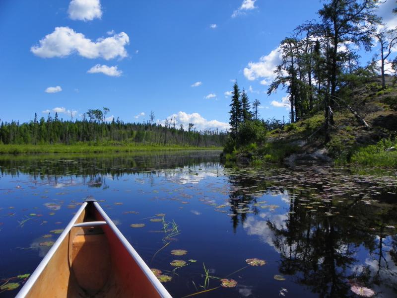 BWCA pic with lake and canoe