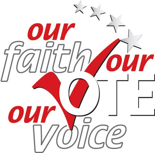 Our Faith Our Vote graphic