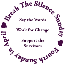 Break the silence sunday logo