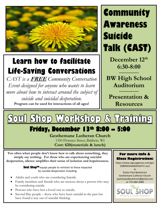Soul Shop training poster