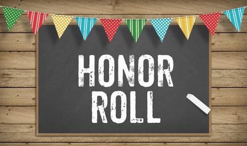 Word Honor Roll as text in chalk on blackboard_ Education school concept
