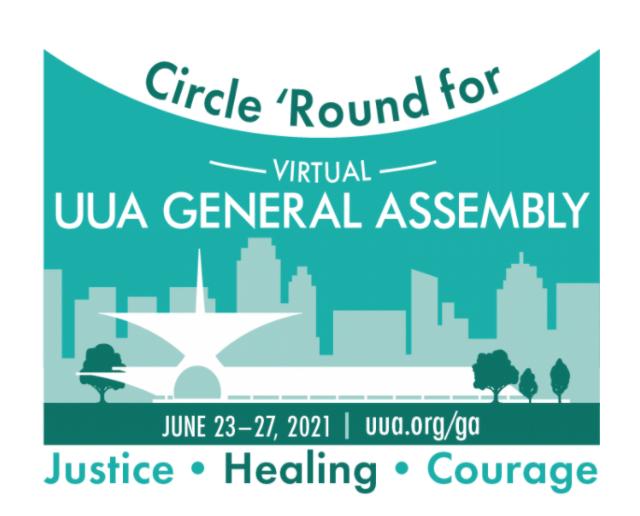 Logo for Virtual UUA GA June 2021