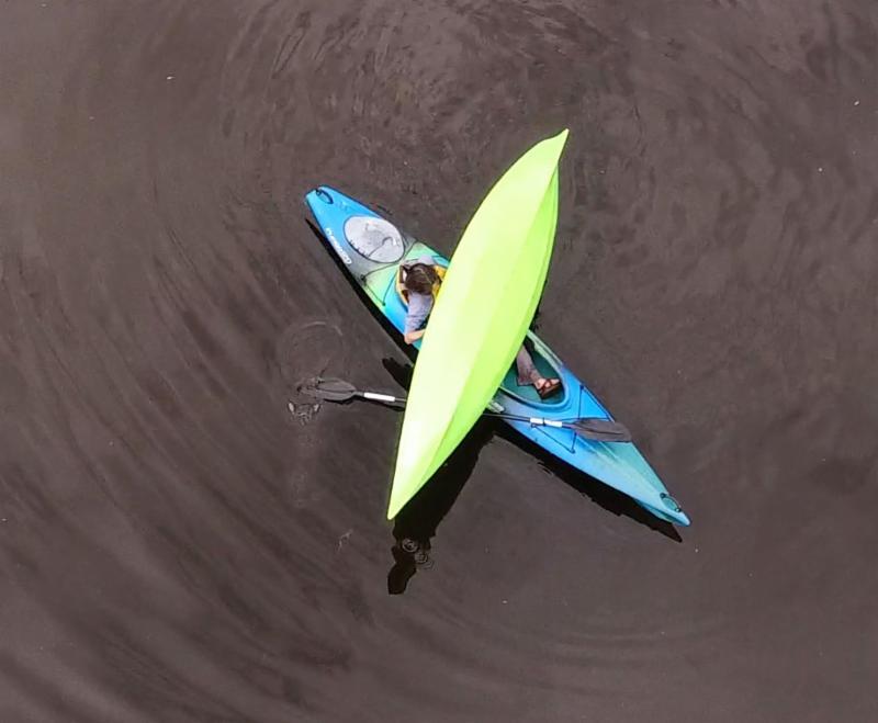 Rescuing a swamped rec kayak